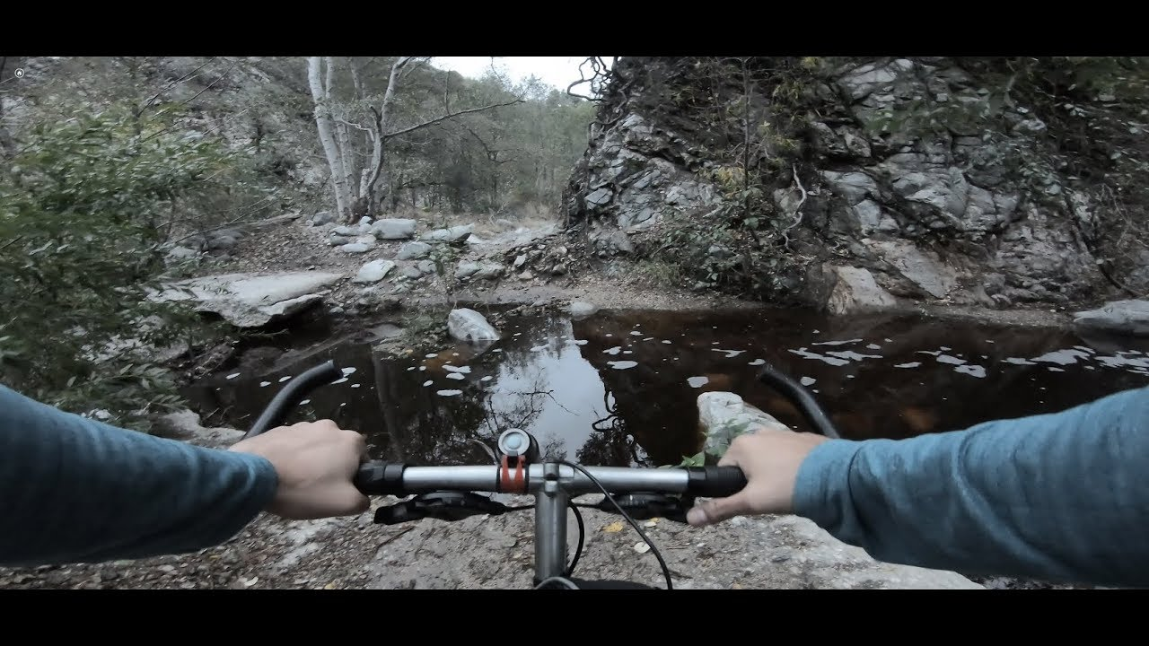 Torrential Downpour While Mountain Biking in Altadena CA, Gabrielino Trail by JPL