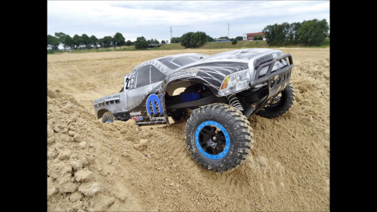 Traxxas Slash 2WD Jumping at a BMX Track