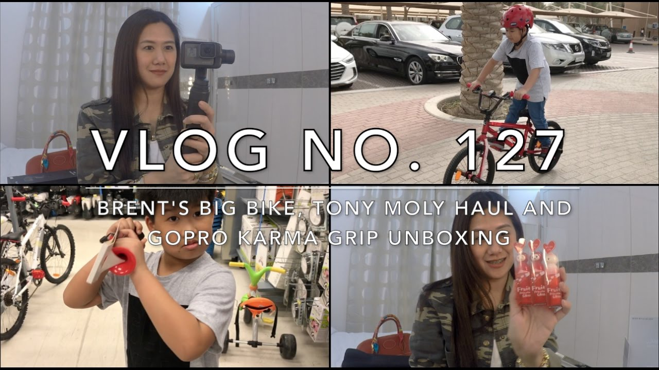 Vlog No. 127 - Brent's Big Bike (B-Twin Wipe 320 BMX), Tony Moly Haul & GoPro Karma Grip Unboxing