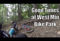 West Mountain Bike Park   Old Men Playing Bikes