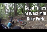 West Mountain Bike Park   Old Men Playing Bikes