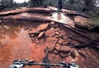 Wet Sedona Mountain Biking
