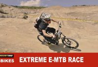 "World's 1st EXTREME Electric-MTB race. ""EGO Gravel Battle"""