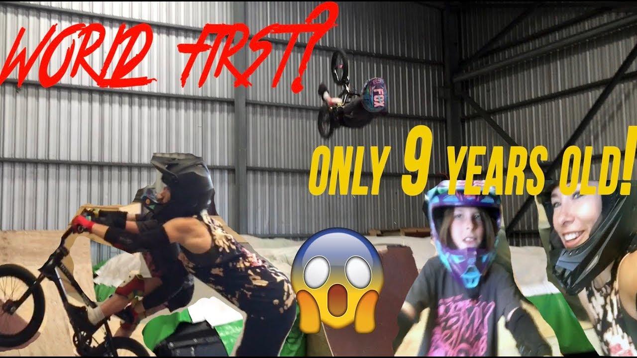 YOUNGEST BMX GIRL TO BACKFLIIP!? Feat. Caroline Buchanan | VLOG 221