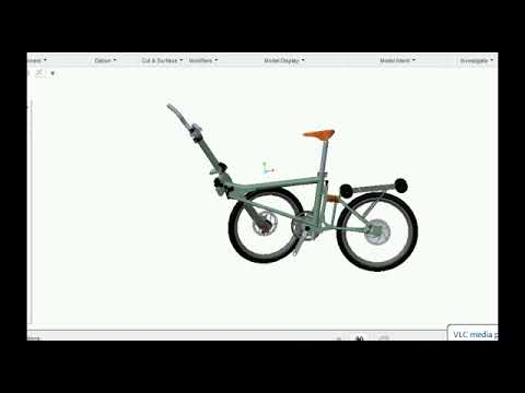 design of foldable bicycle
