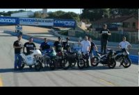 electric bicycle races motorcycles on Laguna Seca