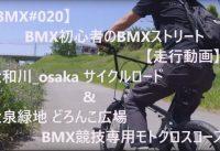 【BMX#020】👍BMX初心者🔰のBMXストリート 【走行動画】 🌊大和川_osaka🌊 サイクルロード ☘️大泉緑地 どろんこ広場☘️ BMX競技専用モトクロスコース