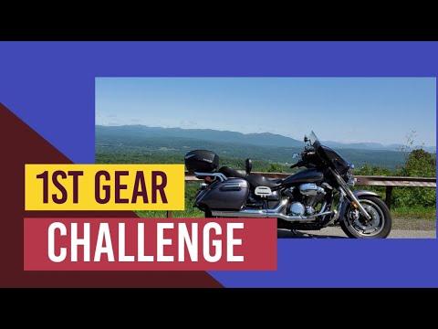 1st gear challenge on the Vstar 1300. Vlog#334