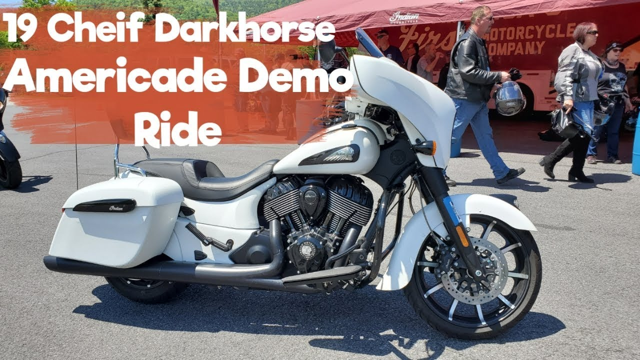 2019 Indian Cheiftan Darkhorse Demo Ride (Americade)