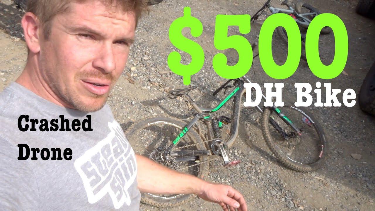 $500 Downhill Bike crashed my Mavic Pro Drone