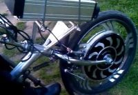 Disabled Biker Supercharged his Wheelchair Trike 1000w Electric Motor Need For Speed
