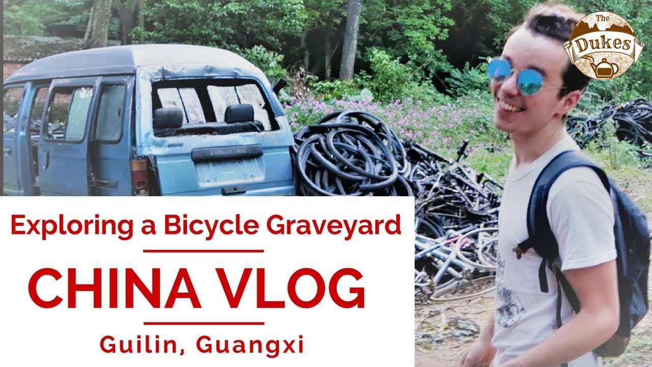 Exploring a Bicycle Graveyard! Hiking | GUILIN CHINA VLOG