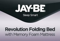 JAY-BE® Revolution Folding Bed with Memory Foam Mattress