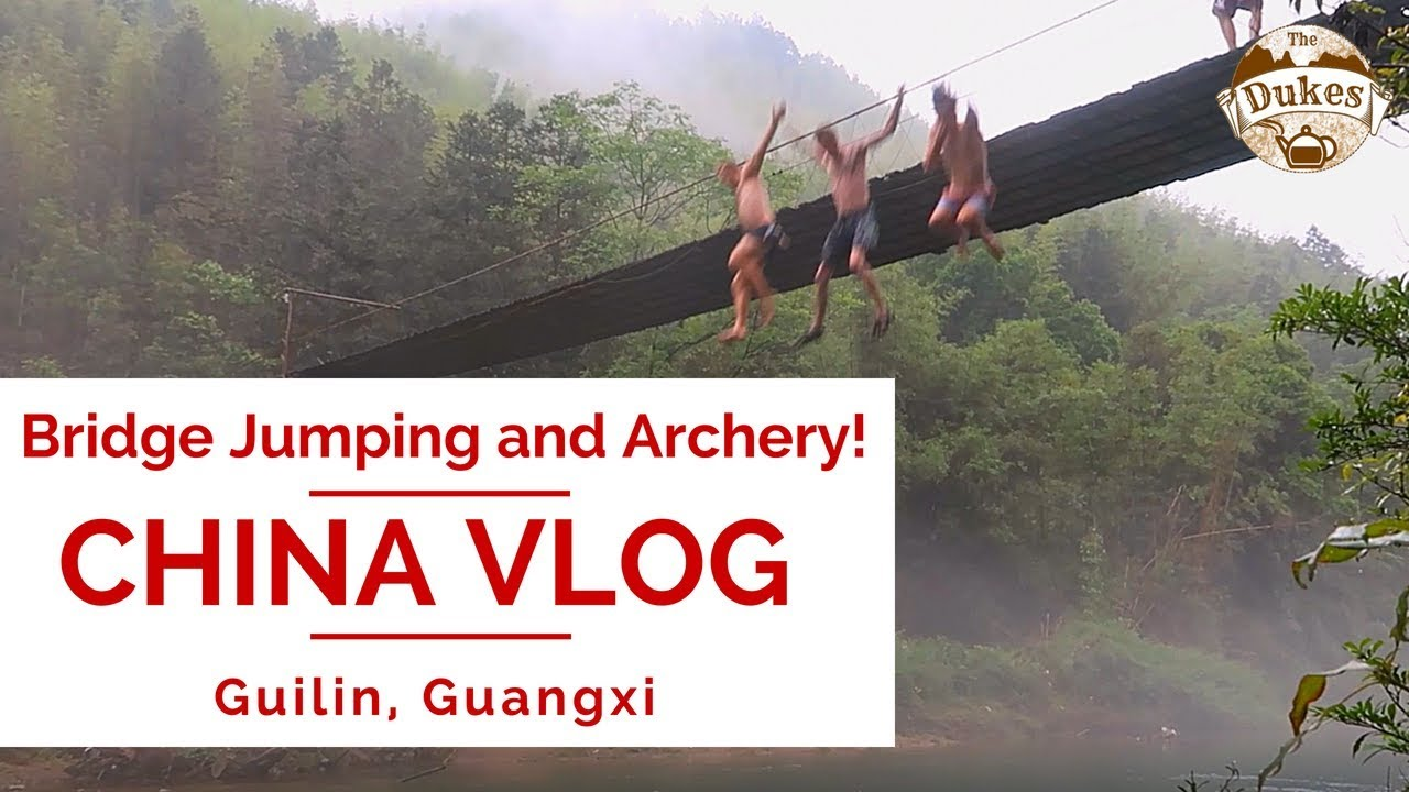 Jumping off Bridges at a Mountain Hotel and Archery! | CHINA VLOG MONTAGE