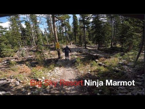 MASSIVE CRASH - Big Sky Resort Bike Park - Ninja Marmot - Summer 2017 - POV