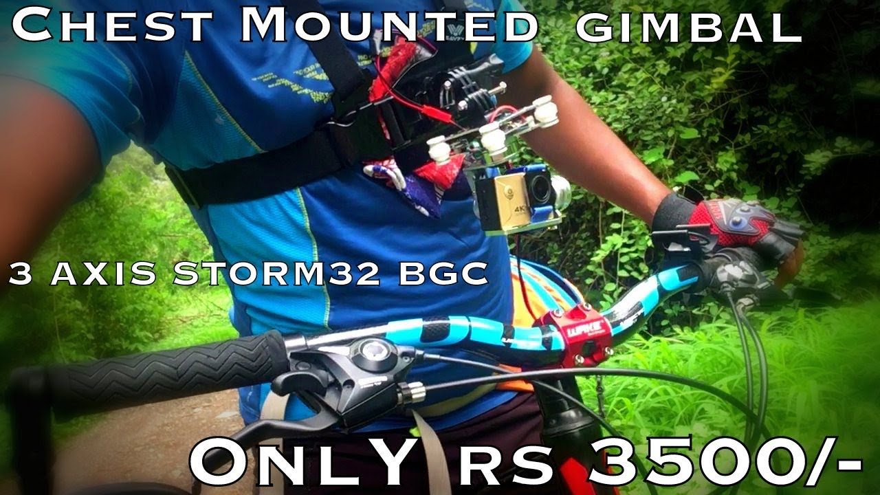 MTB Gimbal 3-Axis Chesty for Mountain Biking| In ₹ 3500 only | DIY