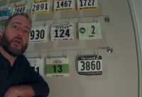MTB Race Number Plate Wall Installation