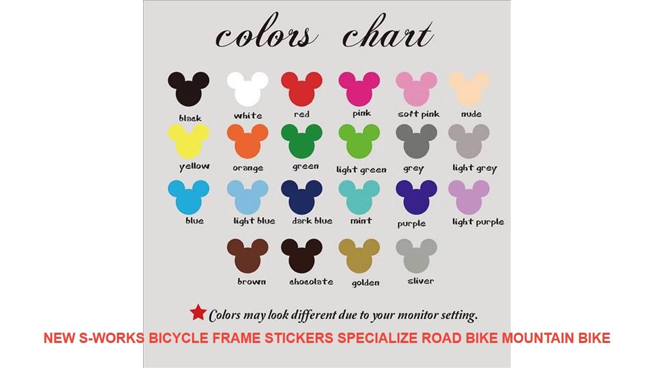 New S-works Bicycle Frame Stickers Specialize Road bike Mountain Bike