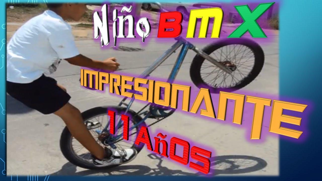 Niño BMX TRUCOS impresionante 11 años #EPICO #CRAZY