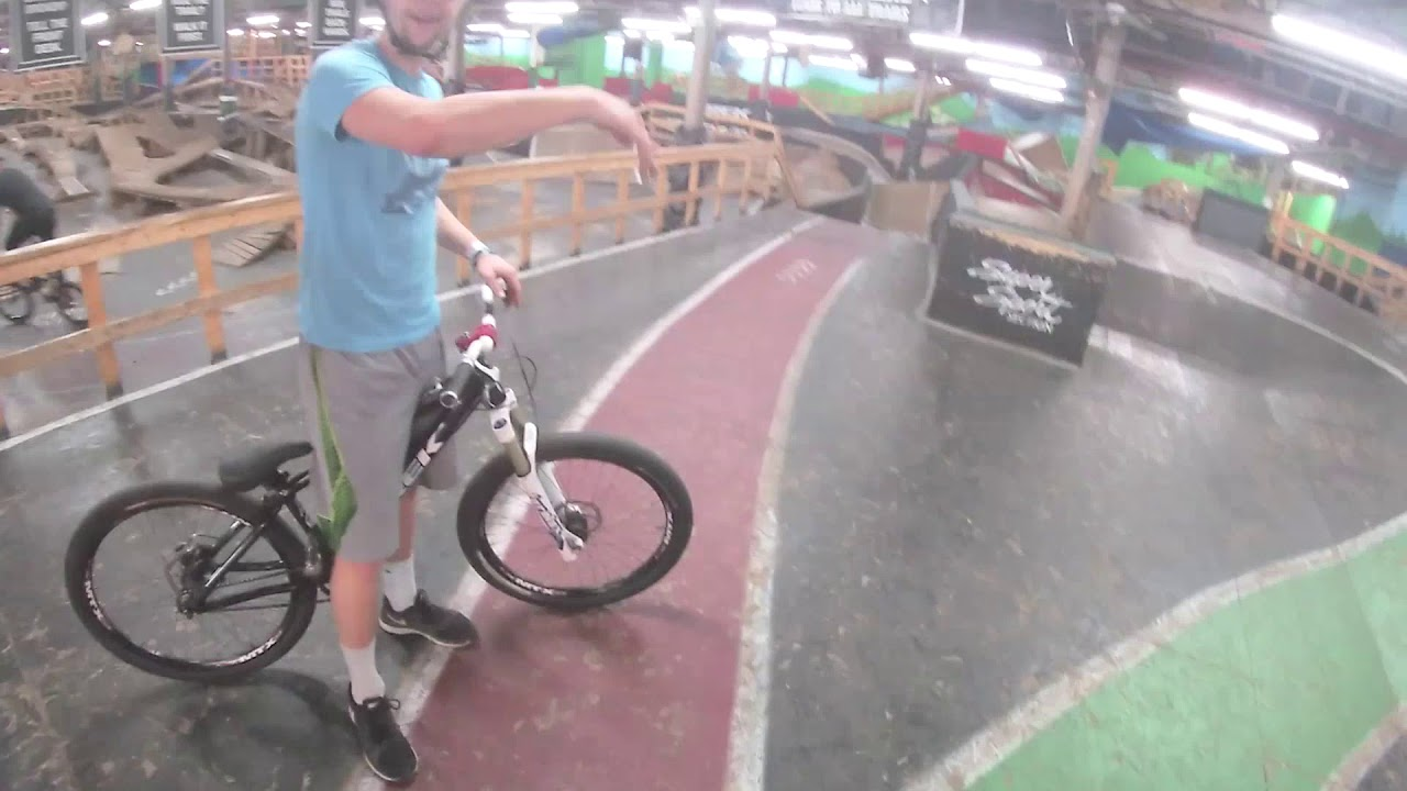 Ray's MTB Helmet Cam. Indoor Mountain Bike Park Cleveland, Ohio