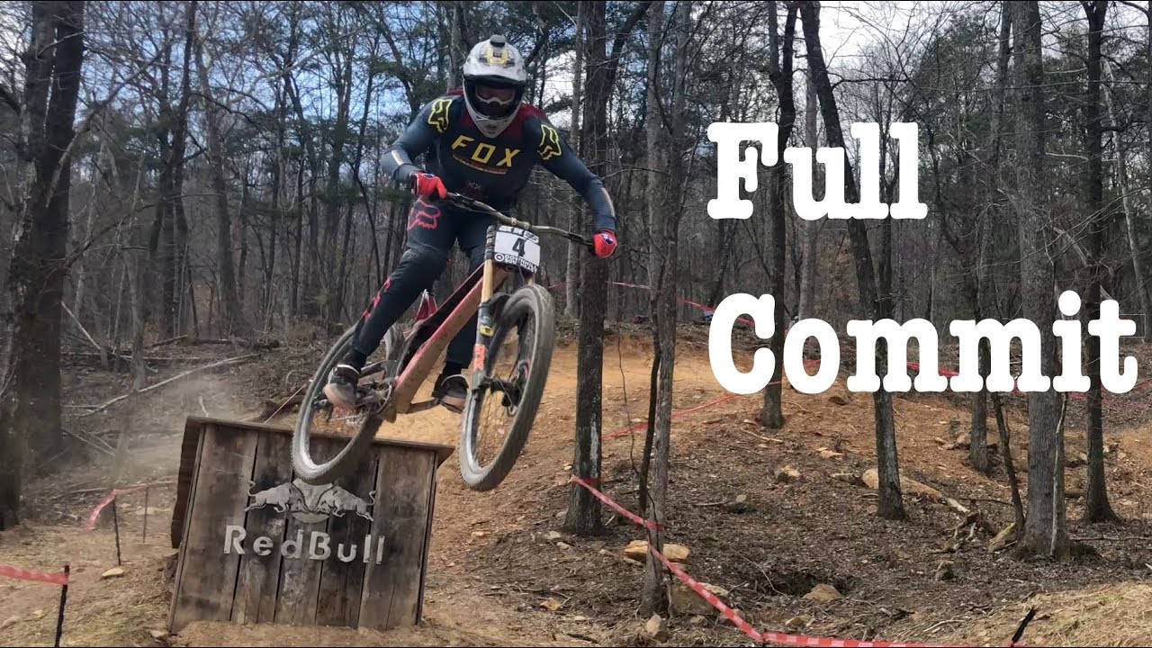 Red Bull drop at Windrock Bike Park Downhill Southeast
