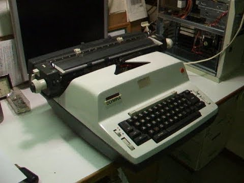 Vintage Olympia Electric Typewriter demo - Model 50/51 A62