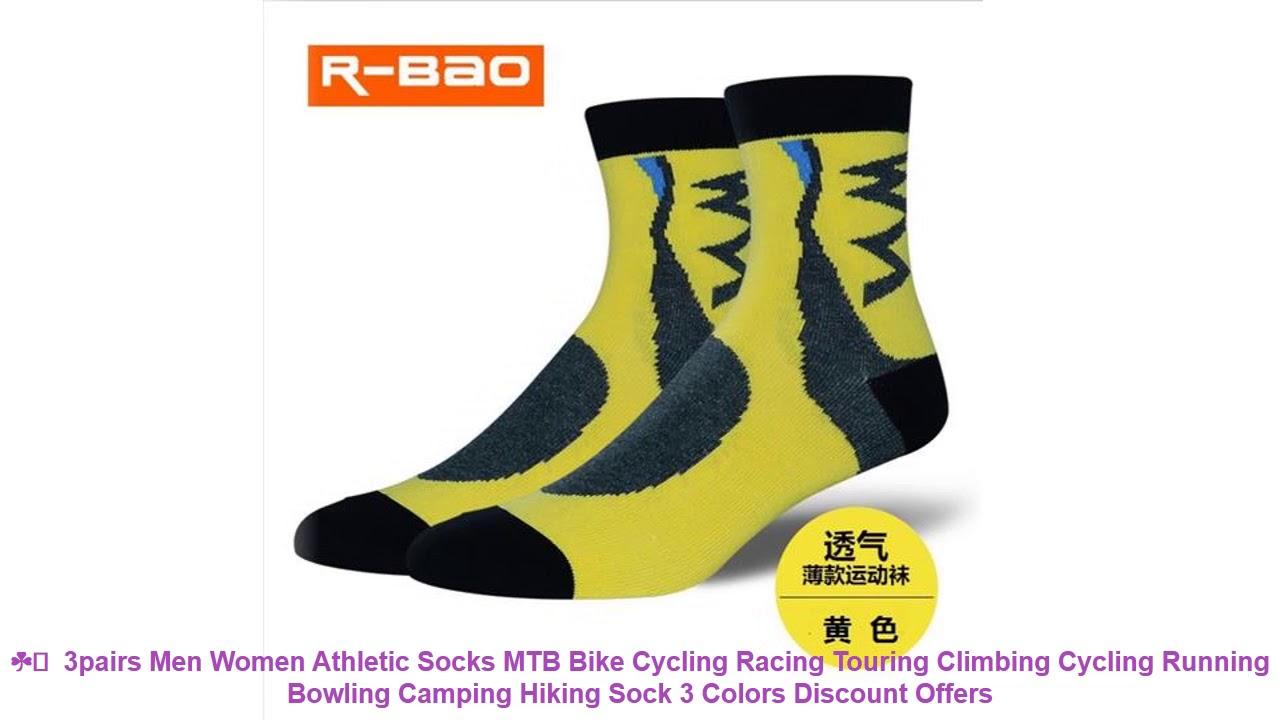 ☘️  3pairs Men Women Athletic Socks MTB Bike Cycling Racing Touring Cl