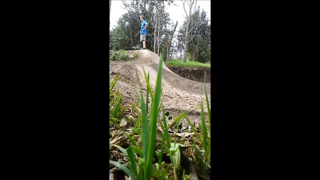 Bmx jump, with a little comedy