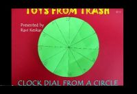 Clock from a Circle | Telugu | Maths with Paper Folding