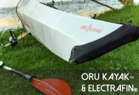 Electric Kayak Conversion Kit Installed on Oru Kayak