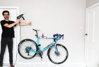 HANGING MY BIKE ON OUR APARTMENT WALL!