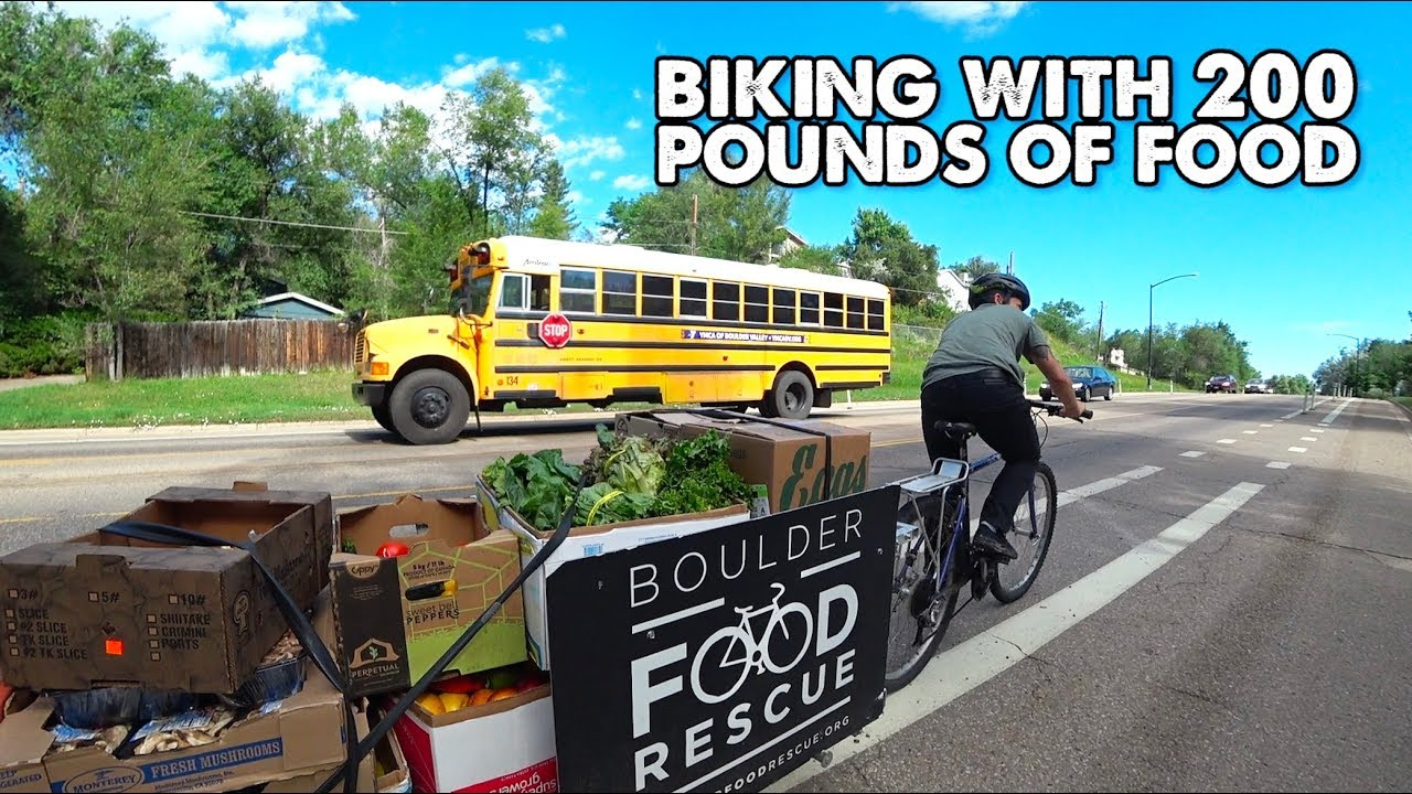 How to Bike With 200 Pounds of Groceries-Boulder Food Rescue
