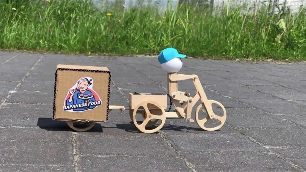 How to Make Robot Sushi Delivery Electric Bike 3 Wheels at Home
