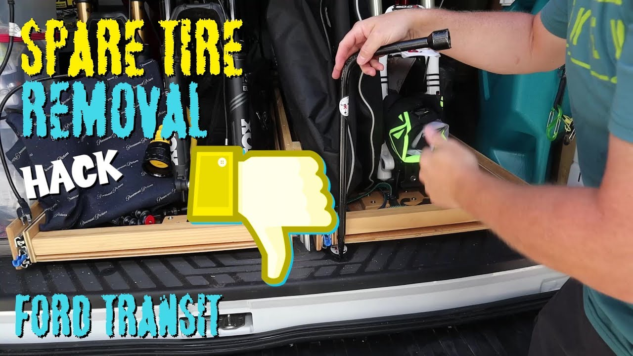 MTB Plan B - Best spare tire removal hack for Ford Transit!
