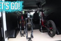 MTB Plan B - Van life...How many bikes can you fit in a 2019 Ford Transit?