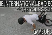 THE INTERNATIONAL BAD BOY vs THE YOUNG GUNS - GAME OF BIKE!!