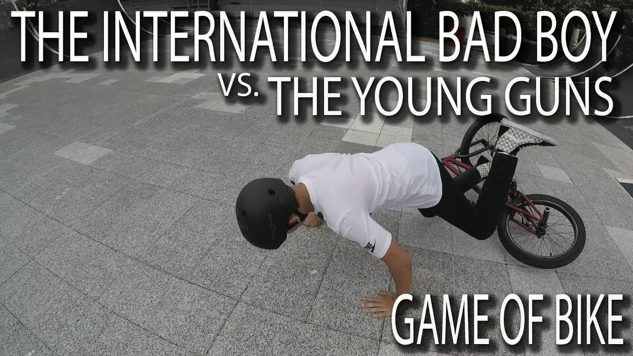 THE INTERNATIONAL BAD BOY vs THE YOUNG GUNS - GAME OF BIKE!!