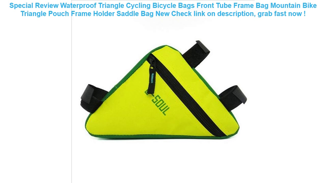 Waterproof Triangle Cycling Bicycle Bags Front Tube Frame Bag Mountain