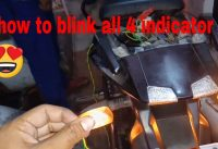 how to link four indecators in your bike to gether also a switch. |how to blink all 4 indicator bike