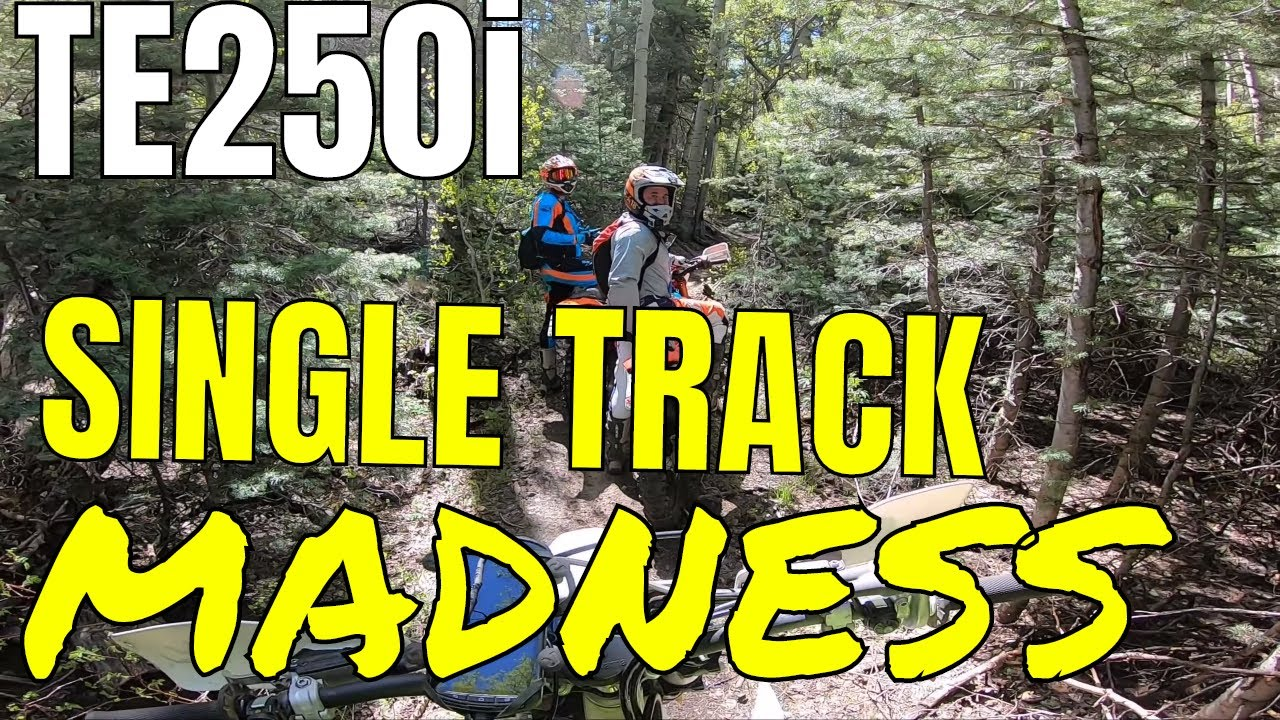 newbie on single track - My first Single track TE250i on single track | dirtbike dualsport madness