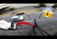 ARRIESGUE MI VIDA PARA SACAR ESTE TRUCO EN BMX? Observaciones  en Calles Peligrosas