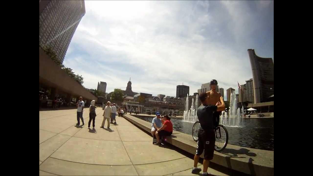 BMX cool bike jumping in Toronto