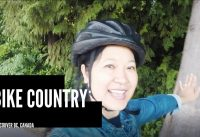Biking around Stanley Park in Vancouver BC, Canada