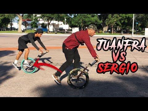 COMPETIMOS USANDO SOLO UNA LLANTA EN BMX! Juanfra vs Sergio 🤯