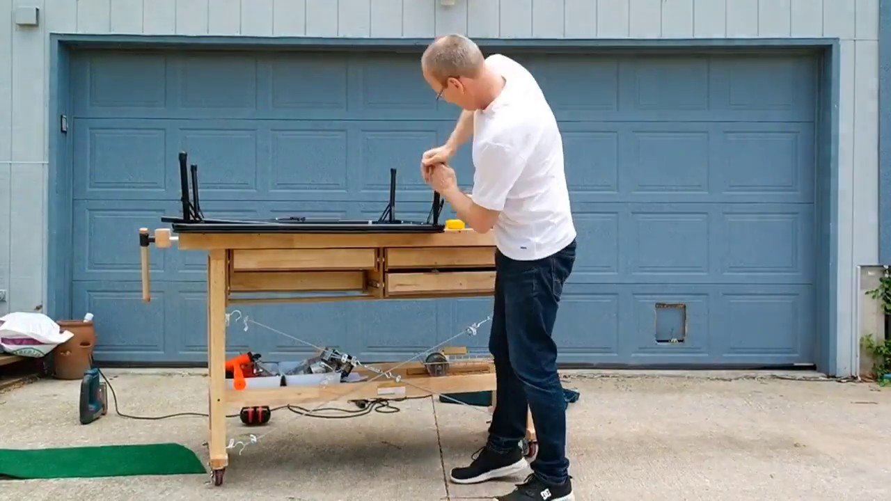 DIY Folding Floor Table
