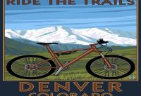 Denver, Colorado - Mountain Bike Scene (36x54 Giclee Gallery Print, Wall Decor