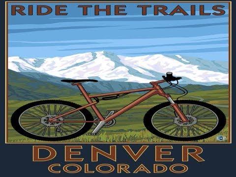 Denver, Colorado - Mountain Bike Scene (36x54 Giclee Gallery Print, Wall Decor