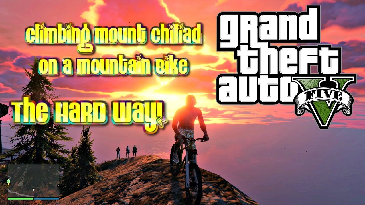 GTA5 | Climbing Mount Chiliad On A Mountain Bike | The HARD Way!