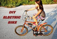HOMEMADE SIMPLE ELECTRIC BIKE ??? DIY PROJECT