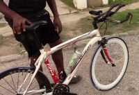 I found a Road Bike Rider in Fulmouth Jamaica